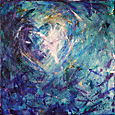 11 - Blue Heart - 10 x 10