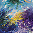 06 - Cubical Revolution No. 3 - Yellow Purple Gold - 12x12