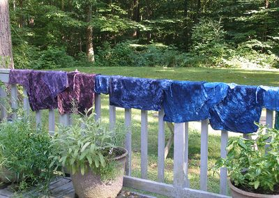 Dye-rainbow-sage&sage-drying